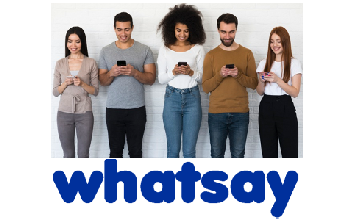 whatsay chat messaging app domain name image